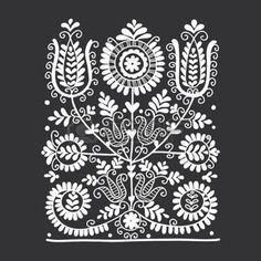 hungarian folk: Floral folk ornament, vector illustration