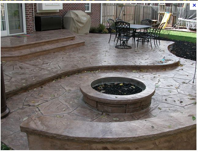 93 best patios images on pinterest | backyard ideas, stamped ... - Raised Concrete Patio Ideas