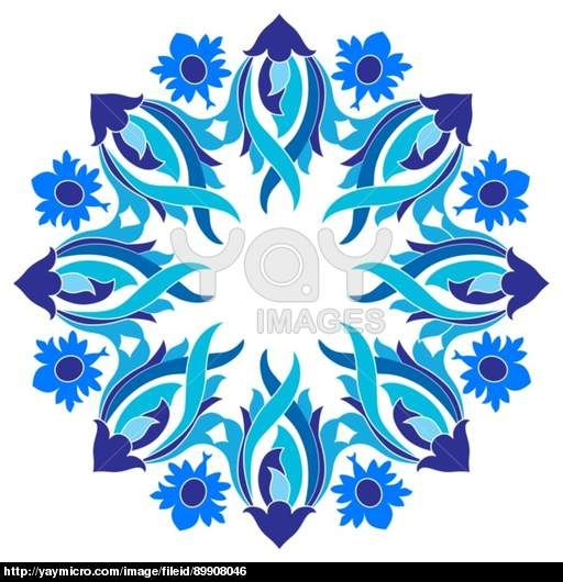 Ottoman motifs design series with nine version