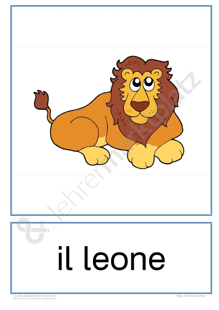 "Flashcards Zootiere ""gli animali dello zoo"" - Seite 1"