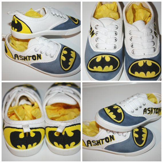 Batman Custom Painted Shoes  Batman Shoes  Kids by HeavenlyHayley