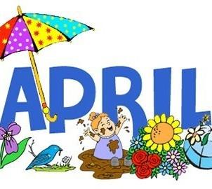 249 best calendar months images on pinterest seasons of the year rh pinterest com Month of April Clip Art April Border