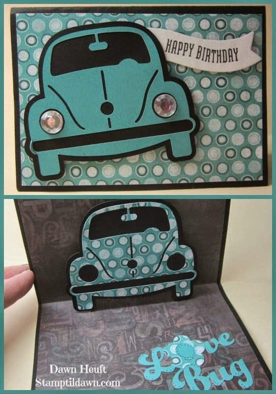 Love Bug card from the Artfully Sent cartridge!  Learn more at stamptildawn.com #CTMH #Artfullysent #cricut