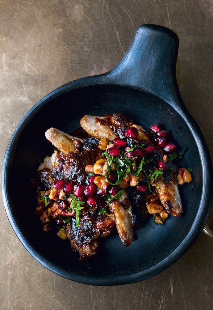 Roasted Quails Recipe with burnt miso and pomegranate | recipe | yotam ottolenghi