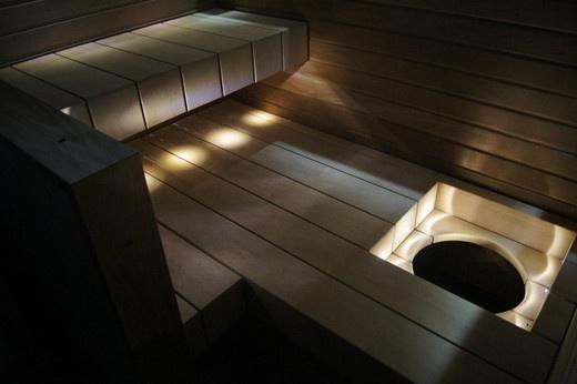 A modern sauna - not bad at all
