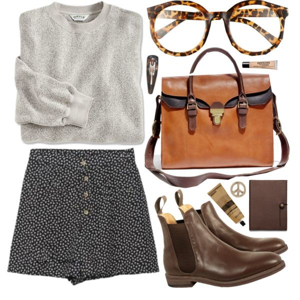 A fashion look from December 2013 featuring Jack Wills ankle booties, Madewell tote bags and 1&20 Blackbirds earrings. Browse and shop related looks.