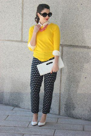 Cute Outfit of the Day: Amy Shaughnessy's Polka Dot Pants : Lucky Magazine