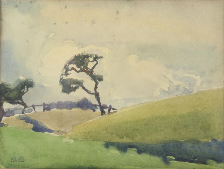 This year, we're gathering stories from all collectors.  We want to hear about your collector trials and tribulations here, or via email at collect@angelatandorifineart.com.  Can't wait to hear your stories!   Eveline Syme - 'Windy Hillside', watercolour on paper