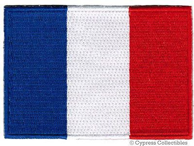 #France national flag #patch french embroidered #iron-on embroidered applique,  View more on the LINK: http://www.zeppy.io/product/gb/2/351610470068/