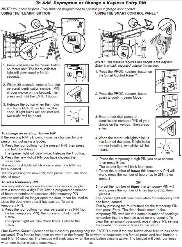 Reprogram My Liftmaster Keypad Garage Doors Garage Door Opener Craftsman Garage Door Opener
