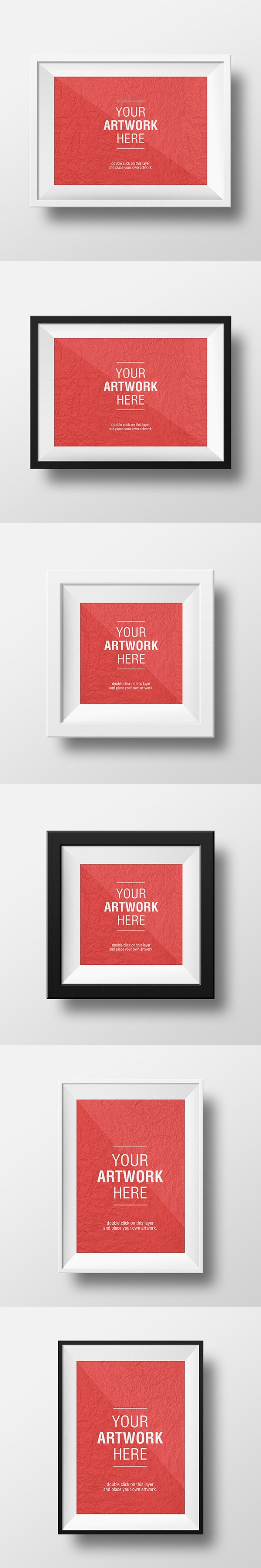 These super clean frame mock-ups will let you showcase your artwork in style. You can choose from 3 different frame sizes...