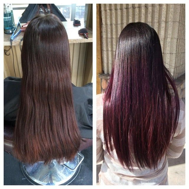 Ginger To Wild Cherry Ombre Coloration