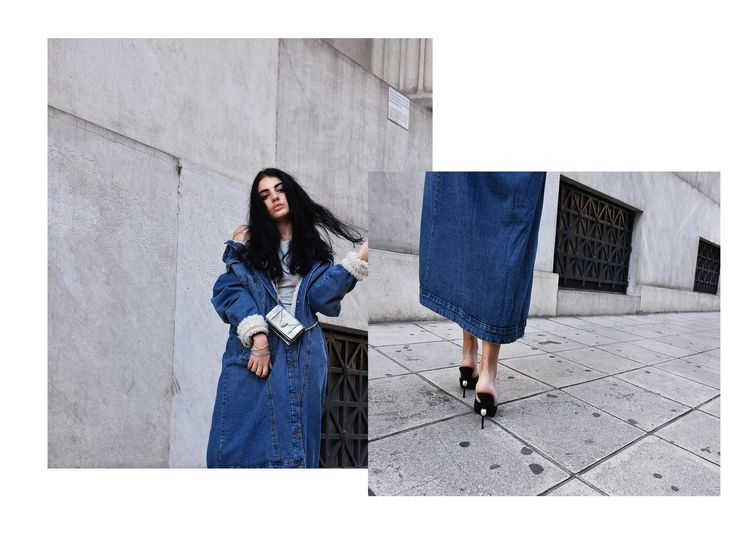 How to wear the shearling denim trend the  casual and glam way