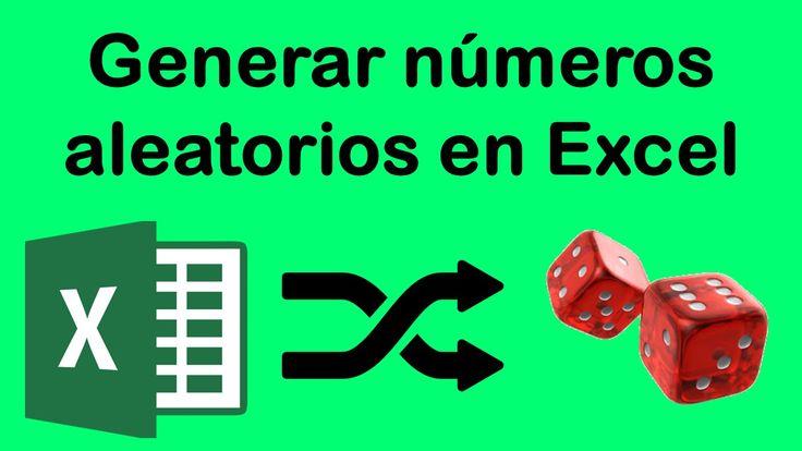 Como generar números aleatorios en Excel 2013-2016