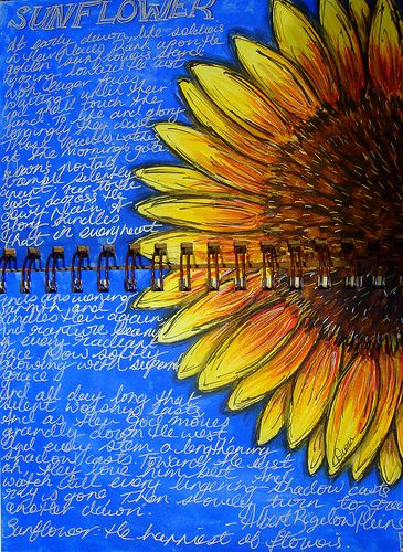 Sunflower art journal