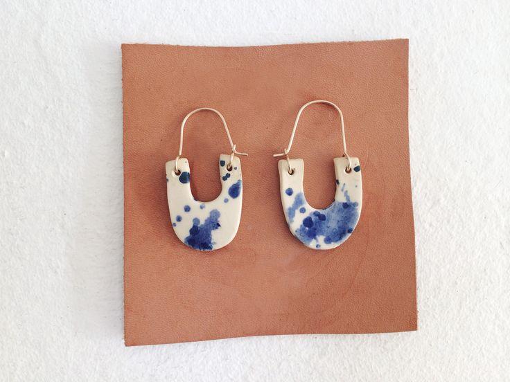 Martina Thornhill Ceramic Splatter Earrings