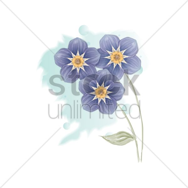 flowers vector graphic