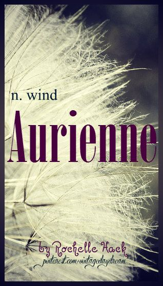 Baby Girl Name: Aurienne. Meaning: Wind; Soft Breeze. Origin: Greek. https://www.pinterest.com/vintagedaydream/baby-names/