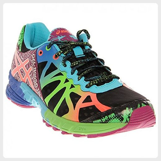 ASICS Women's Gel-Noosa Tri 9 Running Shoe,Black/Neon Coral/Green,6.5 M US