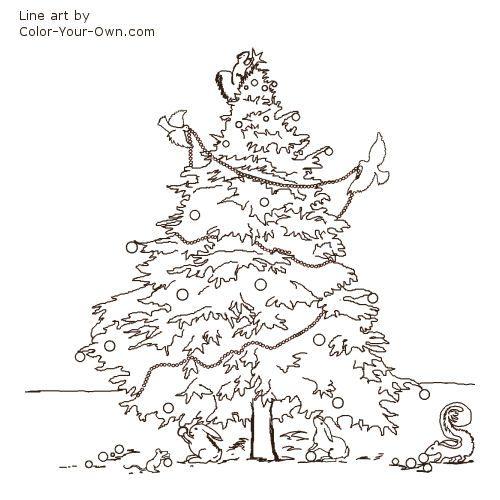 Line Drawing Christmas Tree : Woodland christmas tree line art embriodery pinterest