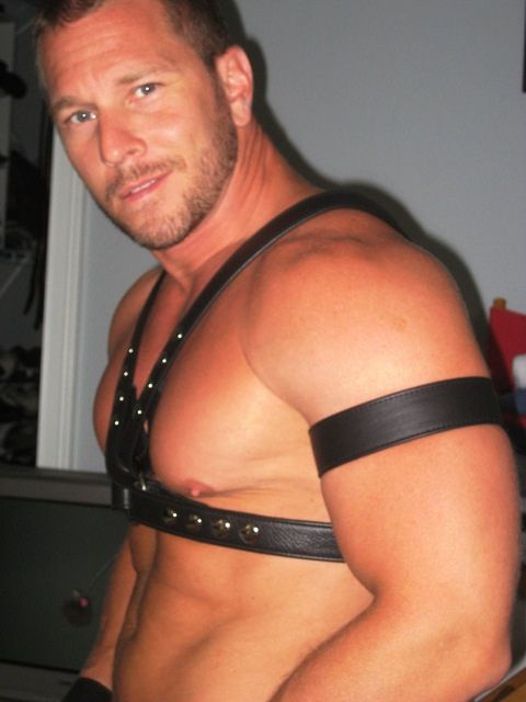 from Sullivan leather bicep band code gay