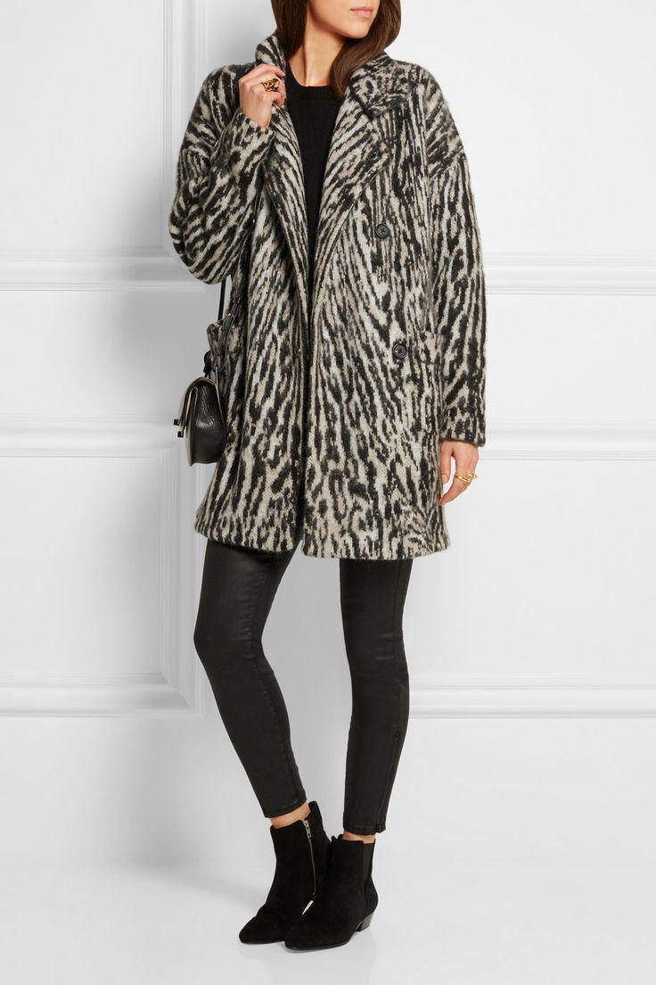 Maje | Malavida leopard-print knitted coat | NET-A-PORTER.COM