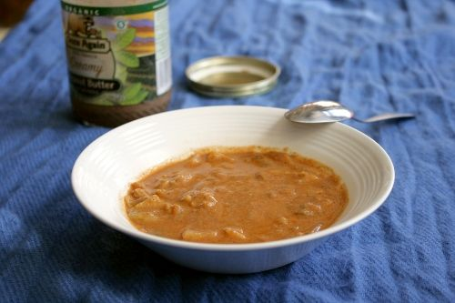 West African Peanut Soup: combining peanut butter and tomato paste ...