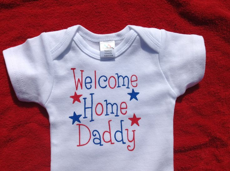 Welcome Home Daddy,Military welcome home Onesie,Unisex Red White and Blue,Patriotic Bodysuit,Air Force,Army,Navy Onesie,We missed you Daddy, by LittleLoveBundles on Etsy