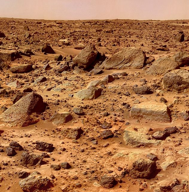 This picture is in Public Domain. Mars, planet, surface, space, space travel