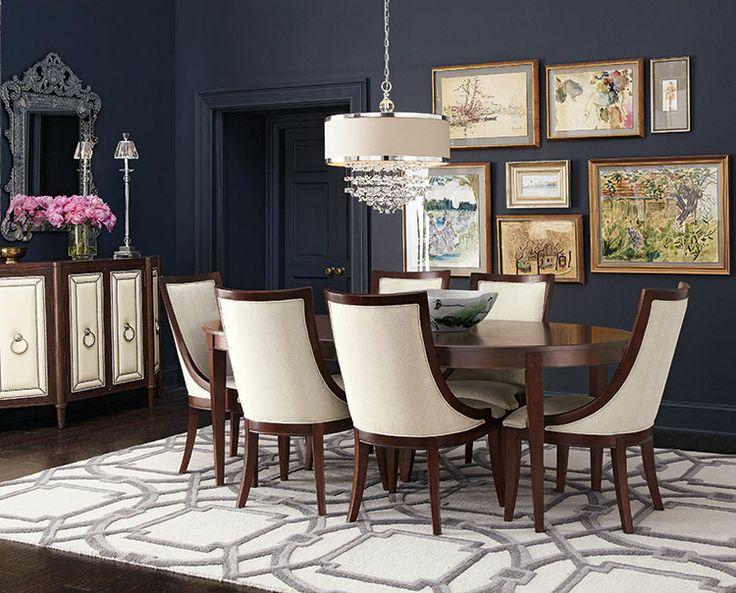 Dining room ideas dining room decor dining room design for Navy dining room ideas