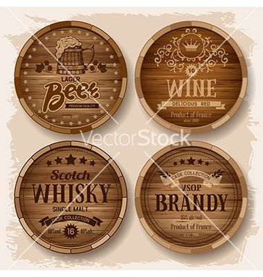 Barrel label vector 2349939 - by Pazhyna on VectorStock®