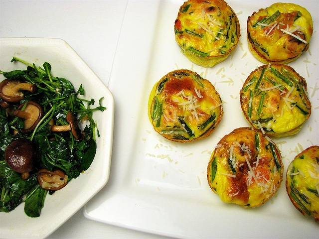 Salmon and asparagus frittata by high over happy, via Flickr