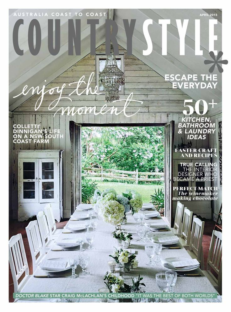 Inside our April issue you will find a visit to Collette Dinnigan's NSW farm, recipes from a South Australian chef, beautiful Easter craft projects and clever decorating ideas for kitchens, bathrooms and floors. Photography Felix Forest. Available at https://magsonline.com.au/cs