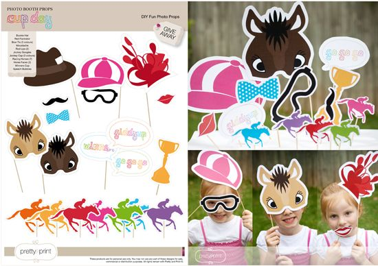 prettyandprint: {GIVEAWAY} Melbourne Cup Day DIY Fun Photo Props Props