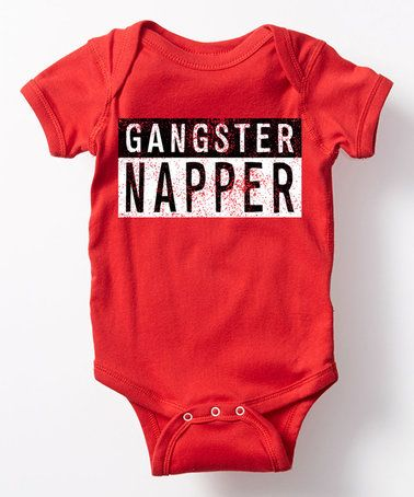 Look at this #zulilyfind! Red 'Gangster Napper' Bodysuit - Infant #zulilyfinds