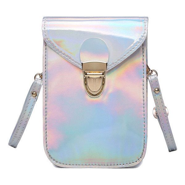 Stylish Creative Silver 5.5inch Phone Bag Shoulder Bag Crossbody Bags ($9.17) ❤ liked on Polyvore featuring bags, handbags, shoulder bags, shoulder hand bags, silver purse, crossbody handbag, shoulder strap bags and silver shoulder bag
