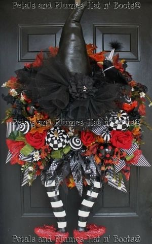 Witch Halloween wreath by Jennifer1