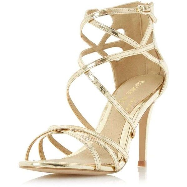 1000  ideas about Gold Sandal Heels on Pinterest   Gold strappy