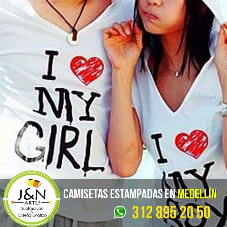 camiseta yo amo a mi novio yo amo a mi novia / Estampados en medellin Colombia