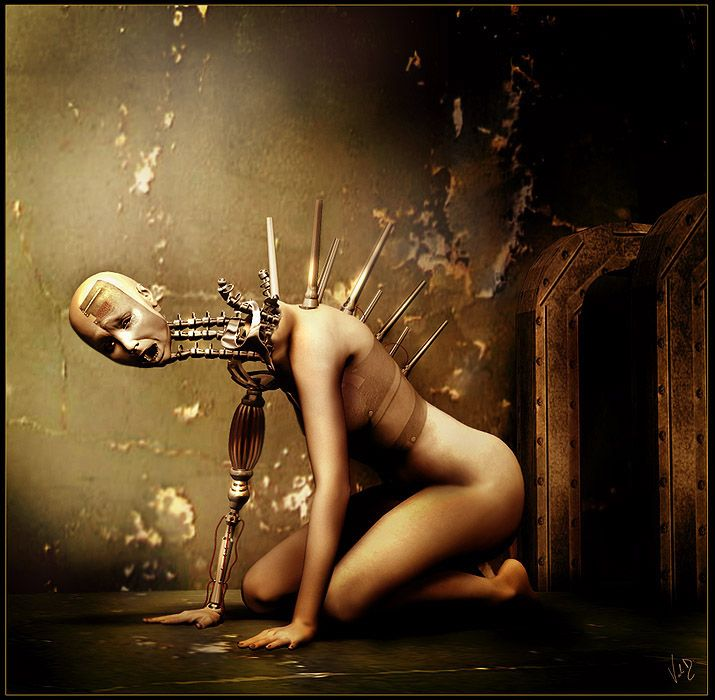 DamagedDark Soul, Horror Art, Digital Art, Favorite Artworks, Dark Art, Cyborgs Steampunk, Darker Things, Dark Life, Odd Art