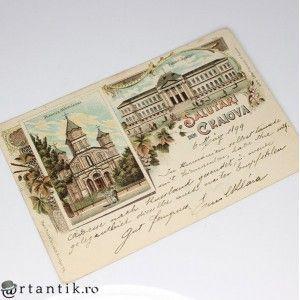 carte postala 1899 - Salutari din Craiova - circulata international