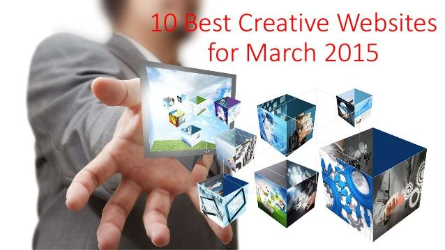 10 best #creative websites for march 2015 - Want a #boost in your #creativity? See for yourself here: http://www.slideshare.net/RegisterMeNow/10-best-creative-websites-for-march-2015