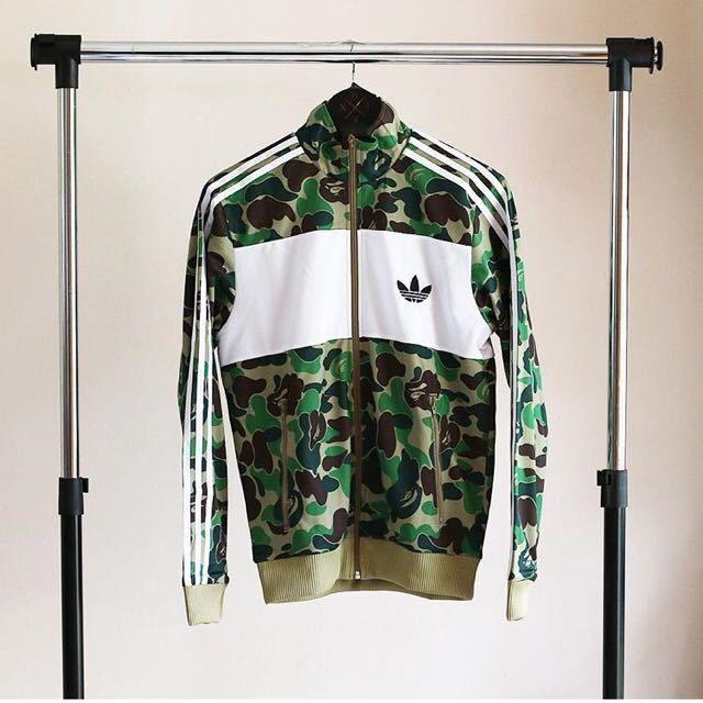 Adidas Bape originals snowboard Firebird Track Jacket green