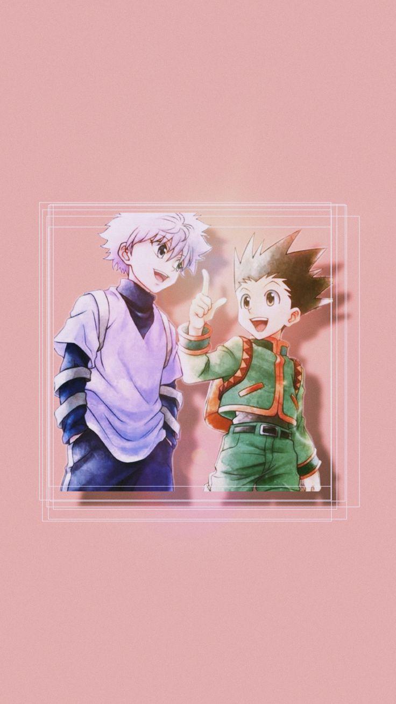 Killua And Gon Anime Wallpaper Iphone Cute Anime Wallpaper Pink Wallpaper Anime