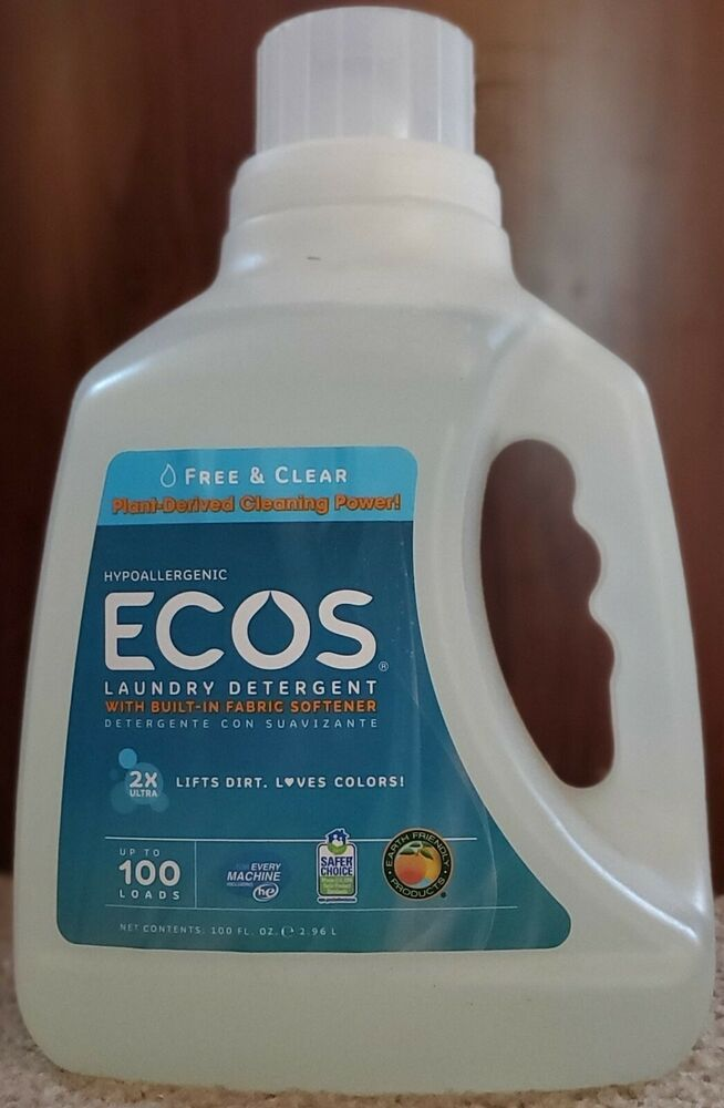 Ecos Laundry Detergent With Built In Fabric Softener Free