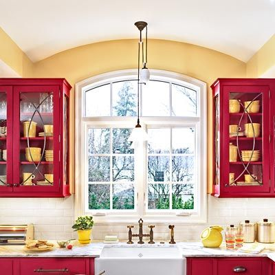 Best 25+ Red Cabinets Ideas On Pinterest | Red Kitchen Cabinets, Kitchen  Ideas Red And The Red Ceiling Part 92