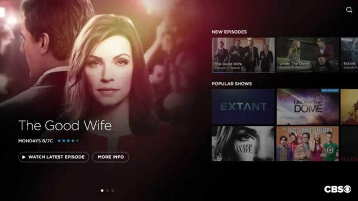 CBS TV UI/UX Concept
