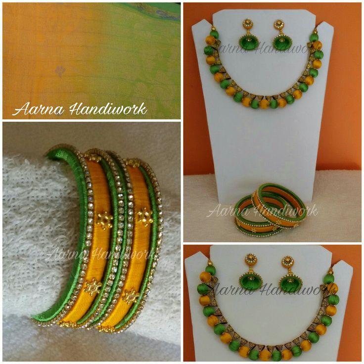 Orange green with Bails Set