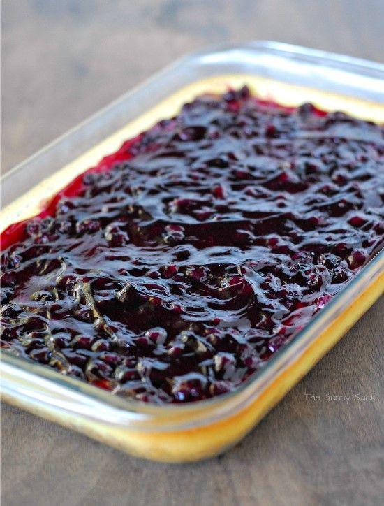 Blueberry Cheesecake Dessert Recipe Sacks Stove And