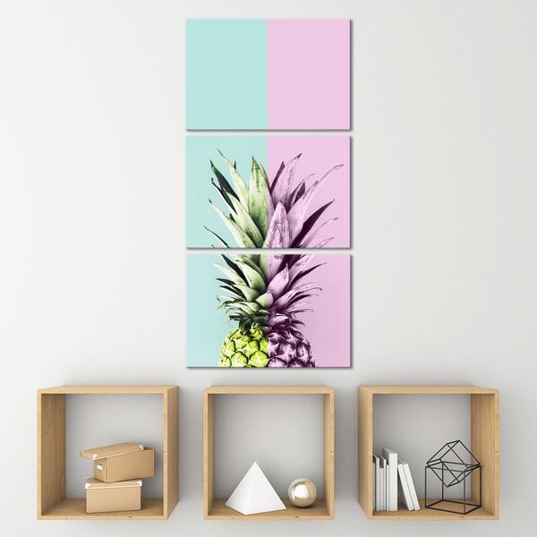 Pineapple Tones Multi Panel Canvas Wall Art In 2020 Multi Panel Canvas Art Multi Panel Canvas Floral Wall Art